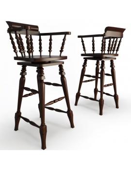 classic-bar-wooden-furniture-3d-barstool