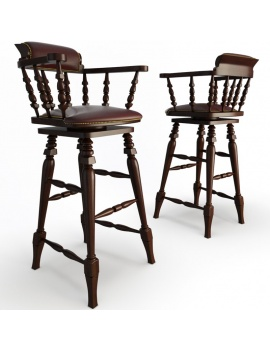 classic-bar-wooden-furniture-3d-barstool-leather