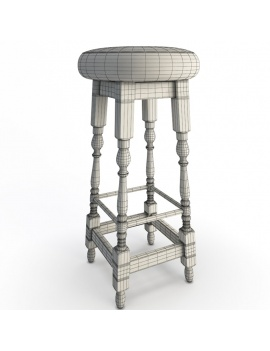 classic-bar-wooden-furniture-3d-models-stool-wireframe