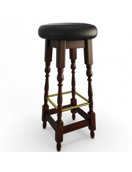 classic-bar-wooden-furniture-3d-models-stool