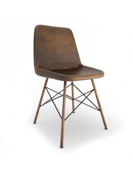 vintage-leather-chair-doris-braid-3d-model