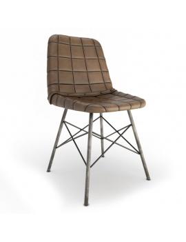 vintage-leather-chair-doris-square-3d-model