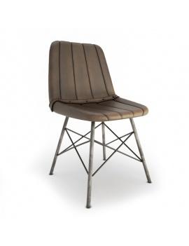 chaise-cuir-vintage-doris-stripes