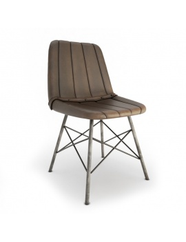 vintage-leather-chair-doris-stripes-3d-model