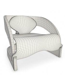 fauteuil-joe-colombo-kartell-3d-filaire