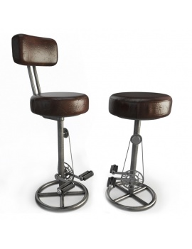 vintage-bike-stool-3d-models