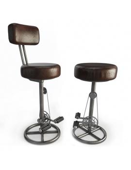 tabourets-vintage-a-pedales-modele-3d