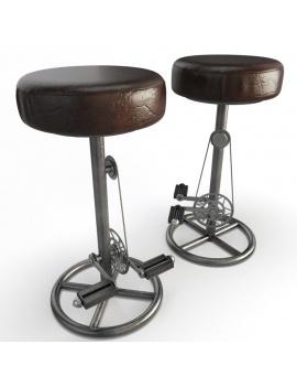 tabourets-vintage-a-pedales-modele-3d-sans-dossier