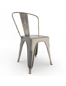 rusted-metal-chair-3d-model-black