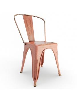 chaise-en-metal-use-modele-3d-rouge