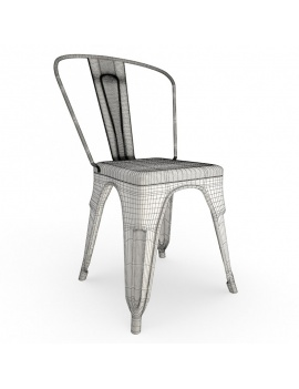 rusted-metal-chair-3d-model-wireframe