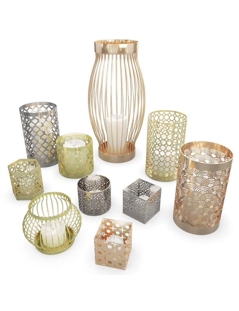 metallic-candle-holder-3d-models
