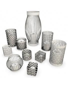 metallic-candle-holder-3d-models-wireframe