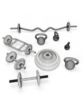 sport-accessories-dumbells-wireframe