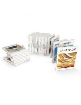 set-of-architect-books-3d