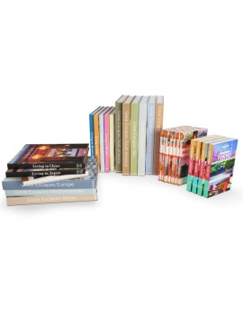 set-of-travel-books-3d