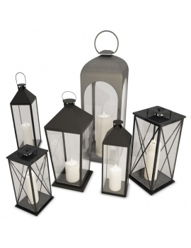 metallic-classic-lanterns-3d-models