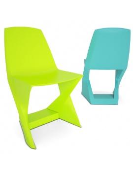 chaise-en-plastique-iso-3d