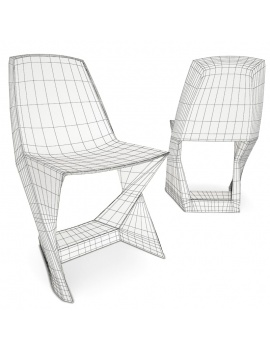 plastic-chair-iso-3d-models-wireframe
