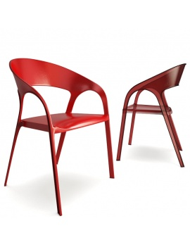 chaise-plastique-gossip-3d