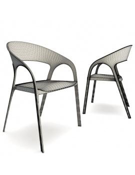 plastic-chair-gossip-pedrali-3d-wireframe