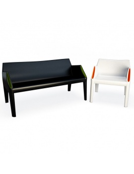 Plastic Sofa and Chair Magichole 3d Models