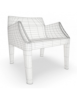 plastic-sofa-and-chair-magic-hole-kartell-3d-armchair-wireframe