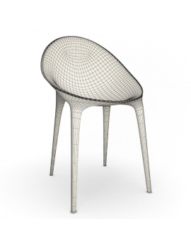 plastic-chair-super-impossible-kartell-3d-wireframe