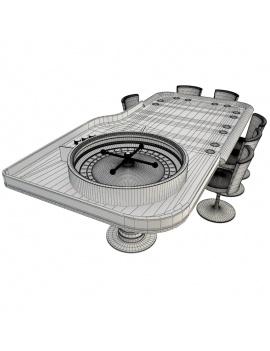 table-de-jeux-roulette-modele-3d- filaire