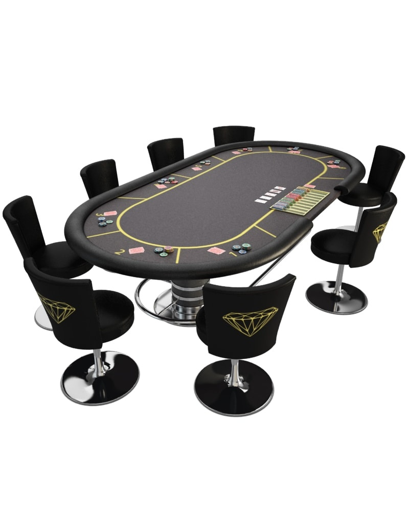 Game table poker Casino 9d model for download in max 9 and obj