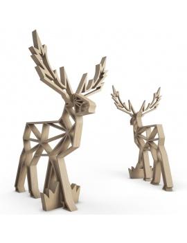 wooden-sculpture-deer-3d-models
