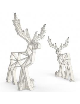 wooden-sculpture-deer-3d-models-wireframe