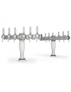beer-taps-elysee-3d-models-6-nozzles-wireframe