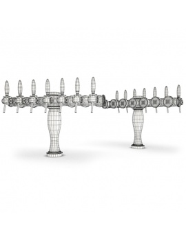 beer-taps-elysee-3d-models-7-nozzles-wireframe