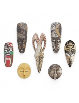 wooden-african-masks-sculpture-3d-models