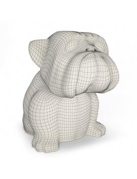 sculpture-decorative-bulldog-3d-filaire
