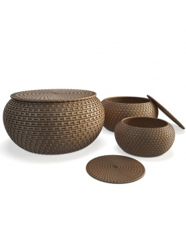 rattan-braided-baskets-3d