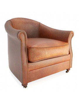 Leather Club Armchair Artu 3d Model