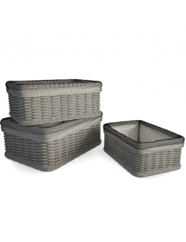 rattan-braided-baskets-3d-models-wireframe