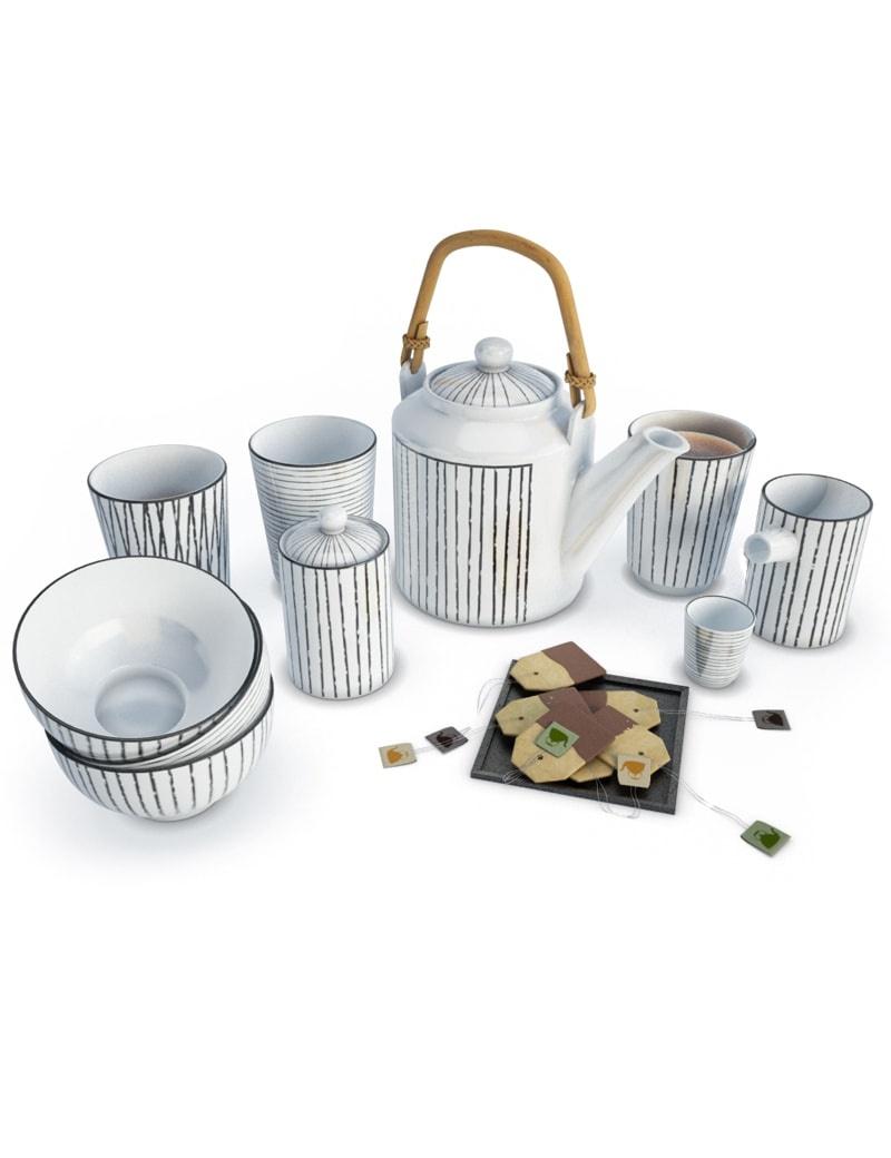 decorative-set-tea-time-white-3d