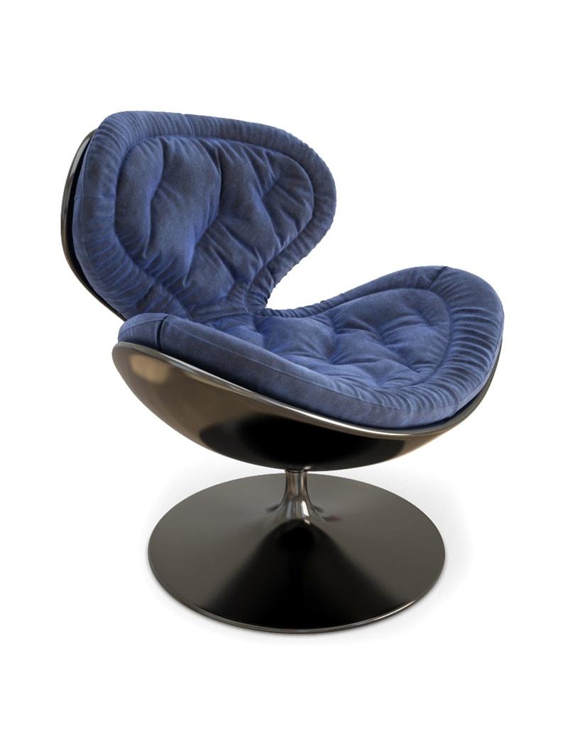 fauteuil-pivotant-en-velours-modele-3d