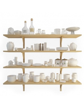crockery-shelves-3d-models
