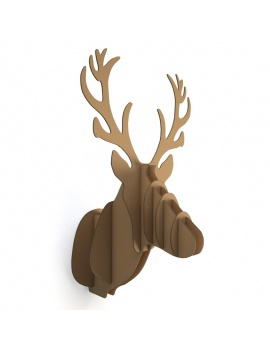 cardboard-sculpture-deer-3d