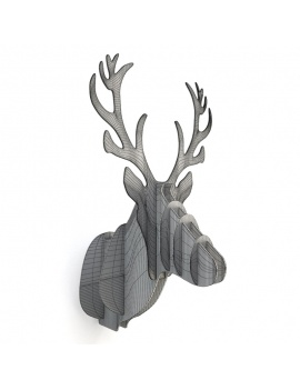 cardboard-sculpture-deer-3d-wireframe
