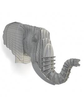 cardboard-sculpture-elephant-3d-wireframe