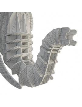 cardboard-sculpture-elephant-3d-zoom-wireframe