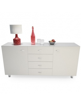Modern Sideboard with Accessories 3d Models