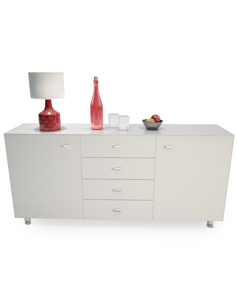 modern-sideboard-with-decorations-3d