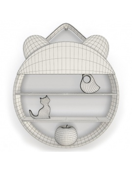 set-of-fantasy-shelves-childroom-3d-models-bear-wireframe