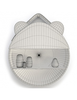 set-of-fantasy-shelves-childroom-3d-models-panda-wireframe
